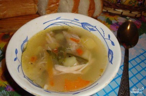 Суп куриный со стручковой фасолью