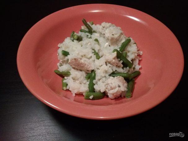 Рис с курицей и фасолью в мультиварке