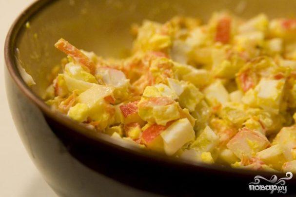 Салат из мяса краба