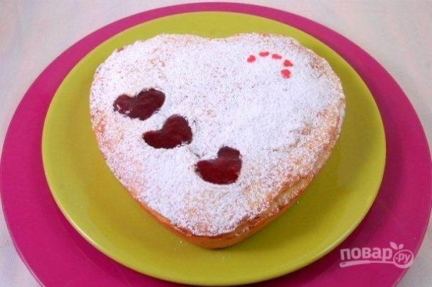 Сладкий пирог на День Святого Валентина