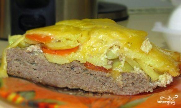 Запеканка с мясом и картошкой