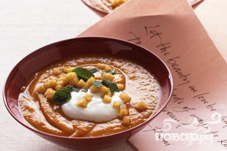 Суп из сладкого картофеля и яблок
