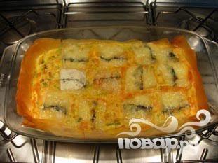 Пирог с сыром и луком-порей