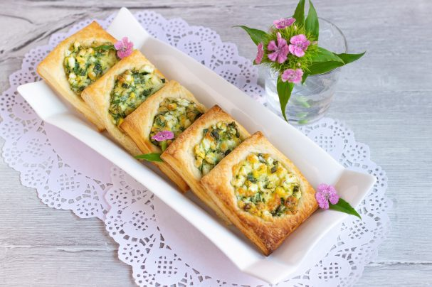 Быстрые пирожки с зеленью