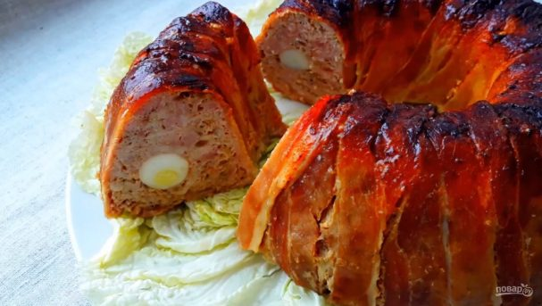 Мясной рулет с яйцом (из свинины)