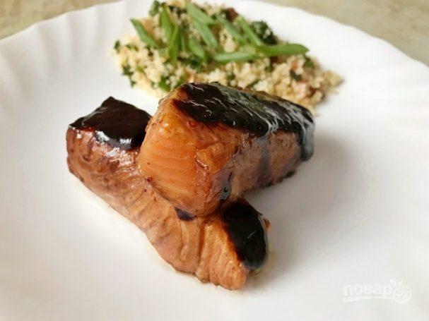 Соево-медовый лосось