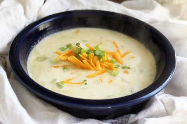 Картофельный суп без мяса