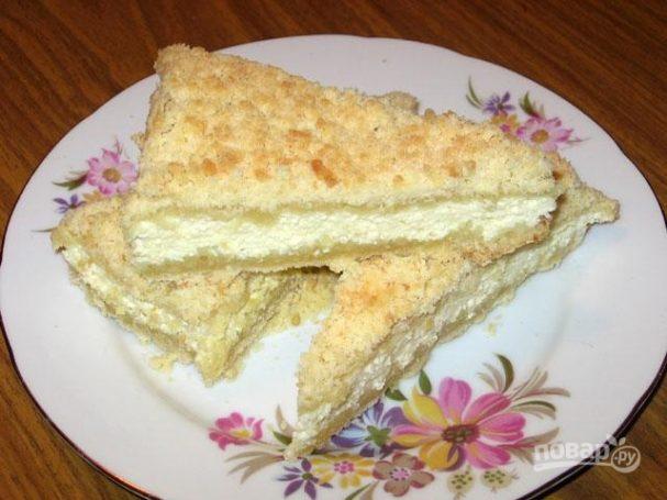Песочный творожный пирог
