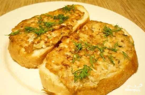 Бутерброды с горбушей консервированной - рецепт с фото на
