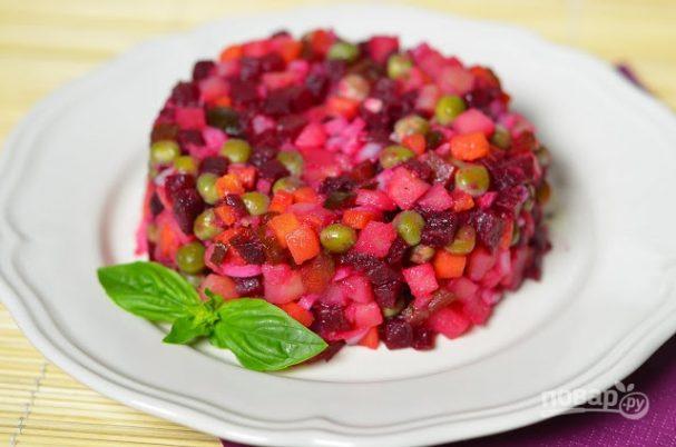 Салат из варёной свеклы