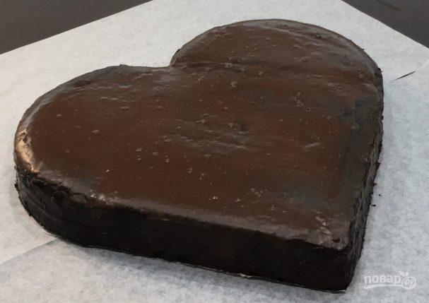 Торт в виде сердца без формочки