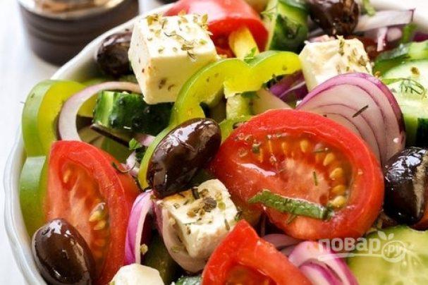 """Салат """"Греческий"""" классический простой"""
