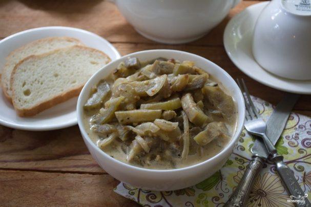 Тушеные баклажаны под соусом