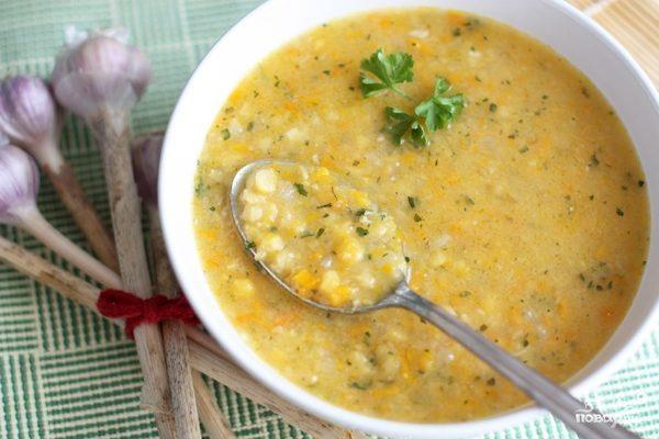 Гороховый суп на говяжьем бульоне