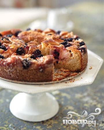 Яблочно-ежевичный пирог