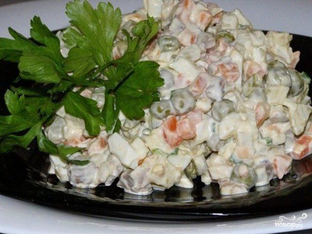 Постный салат Оливье