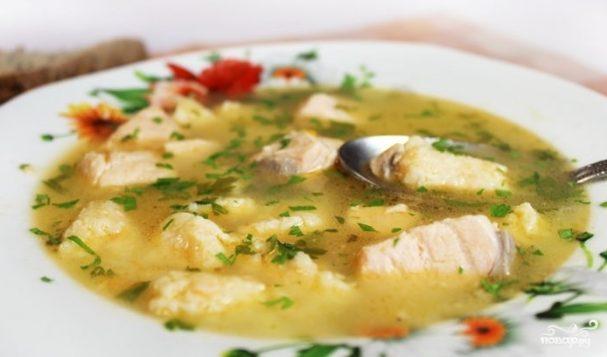 Рыбный суп с клецками