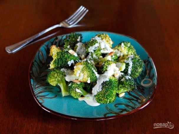 Тёплый салат из брокколи