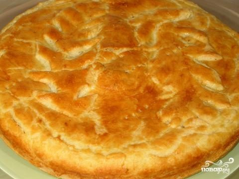 Пирог с кетой