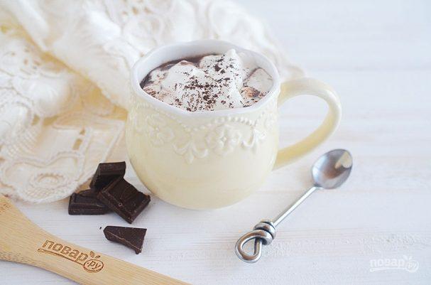 Французский горячий шоколад с солью