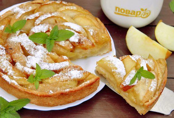 Песочный пирог с яблоками от Юлии Высоцкой