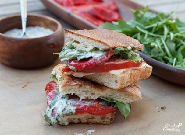 Сэндвичи с болгарским перцем