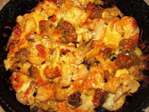 Овощи, запеченные в духовке с сыром