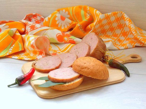 Домашняя чесночная колбаса
