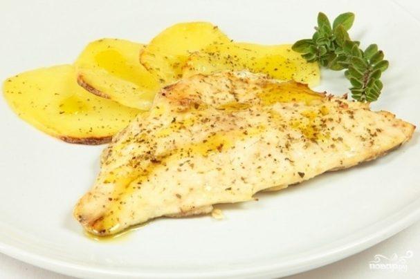 Филе рыбы с картошкой