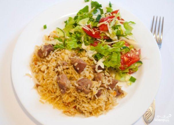 Баранина с рисом в мультиварке