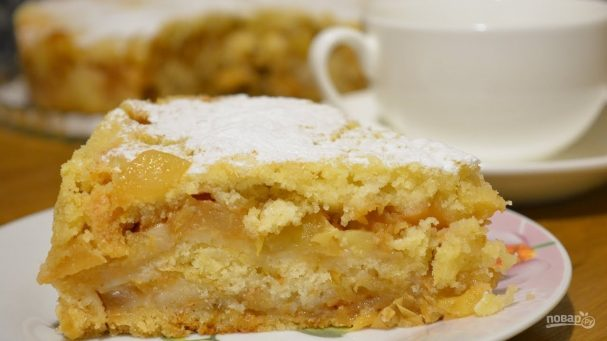 "Пирог с яблоками ""Лентяйский"""
