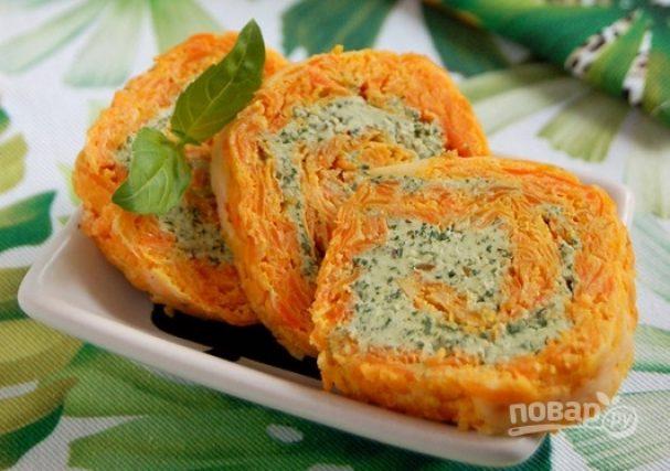 Морковный рулет диетический