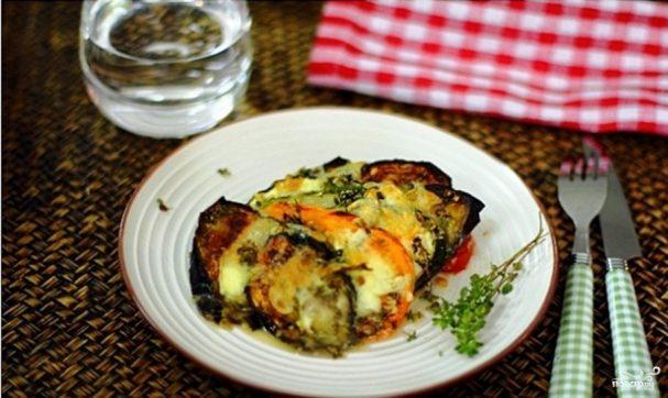 Овощи с моцареллой в духовке