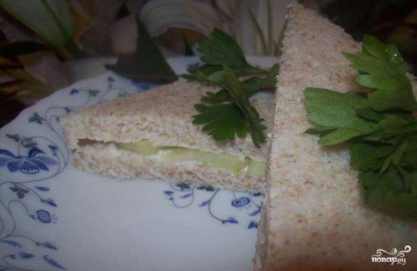 Сэндвичи с огурцом