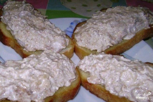 Бутерброды с творожно-яблочной массой - рецепт с фото на