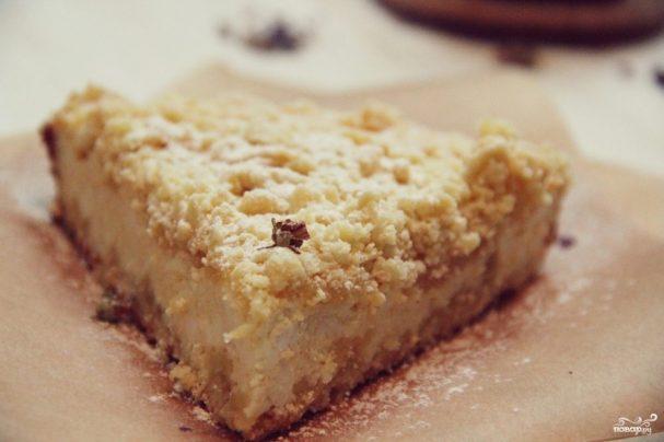 Творожный пирог с песочной крошкой
