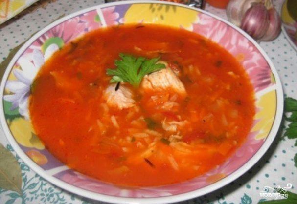 Куриный суп с томатной пастой