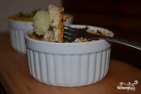 Картофельная запеканка с икрой