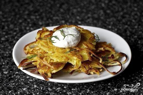 Оладьи из картофеля и пастернака