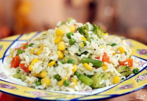 Гарнир из басмати и овощей