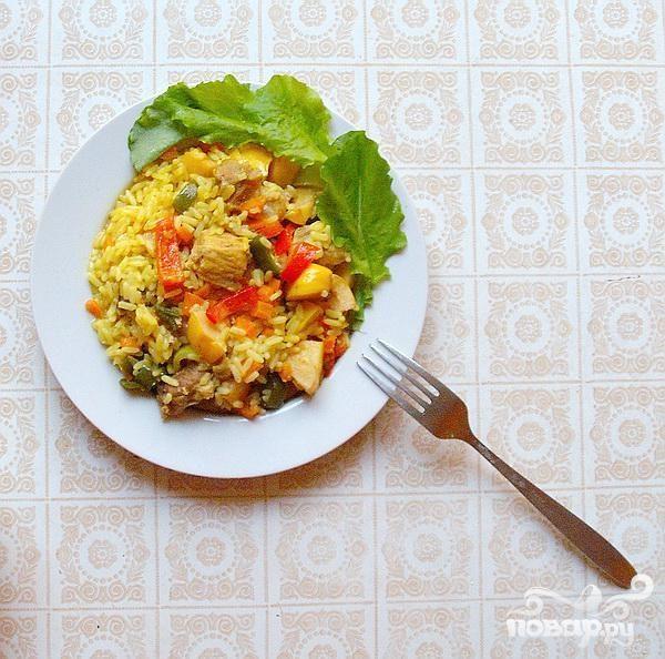 Свинина с рисом в индонезийском стиле