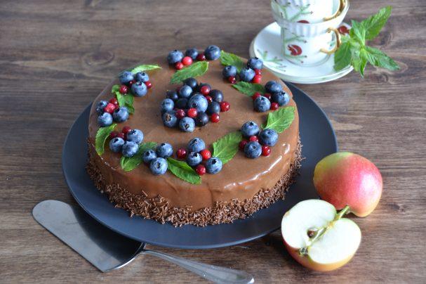 Муссовый яблочный торт