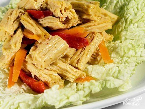 Салат из сушеной спаржи