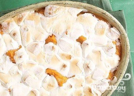 Кассероль из сладкого картофеля с зефиром