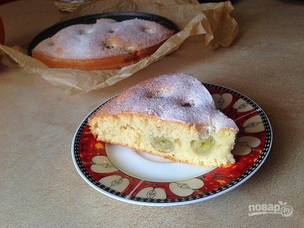 Осенний пирог с виноградом
