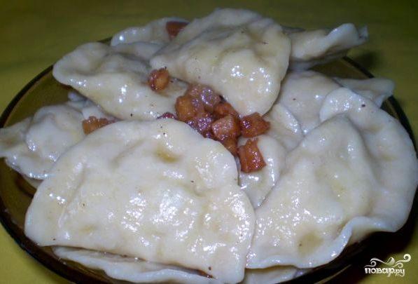 рецепт вареники с картофелем и мясом