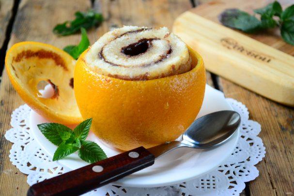 Цинамоновые роллы в апельсиновой корке