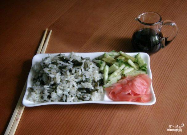 Морская капуста с рисом