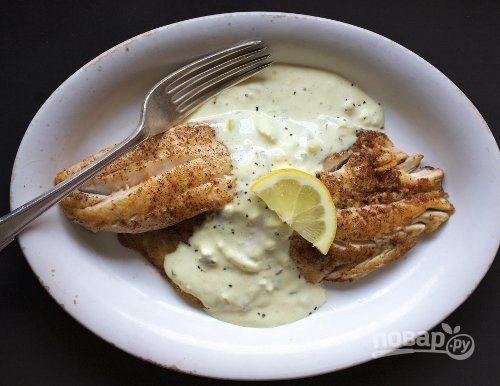"""Рыба под соусом """"Тартар"""" в духовке"""