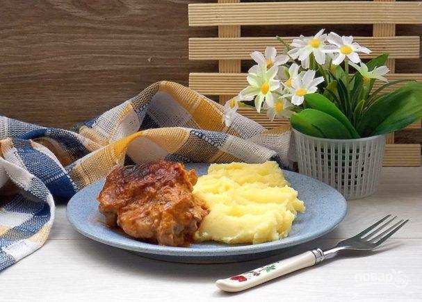 Запеченная в крем-соусе курица